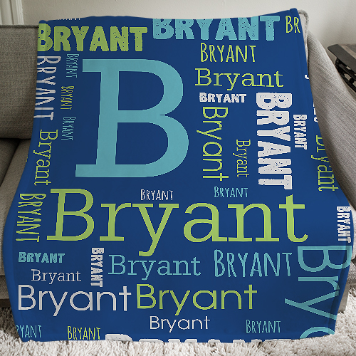 Personalized Boys Word-Art Throw | Personalized Blnakets