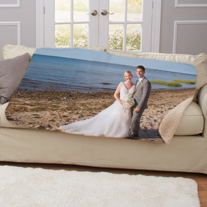 Photo Sherpa for Wedding | Personalized Blankets