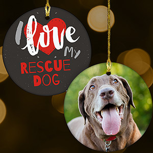 Rescue Dog Photo Ornament U1077510