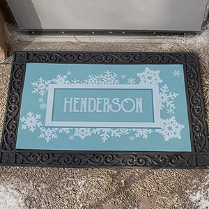 Personalized Snowflake Family Doormat U1077783X