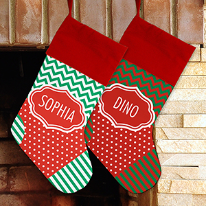 Personalized Patterned Stockings