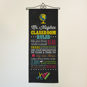 Personalized Classroom Rules Wall Hanging | Classroom Door Decorations