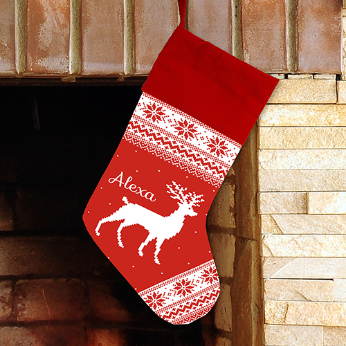 Personalized Scandanavian Print Stocking | Unique Christmas Stockings