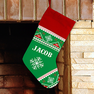 Personalized Knit Print Sub Stocking U1078984