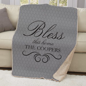Personalized  Bless This Home Sherpa U1081487
