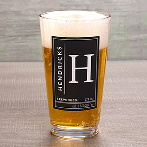 Personalized Name & Initial Pint Glass U1087692