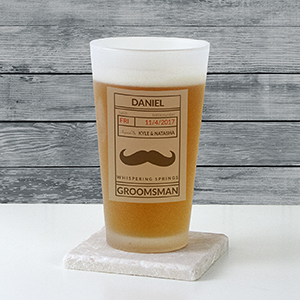 Personalized Groomsmen Frosted Pint Glass U10877105