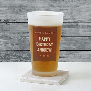 Personalized Any Message Frosted Pint Glass U10879105
