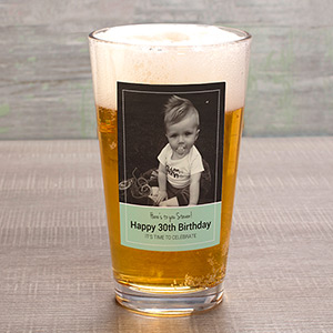 Personalized Photo Pint Glass U1088092