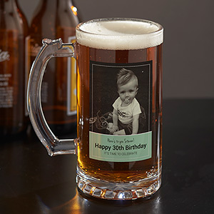 Personalized Photo Glass Beer Stein  U1088095