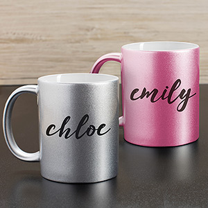 Personalized Any Name Metallic Mug U1088996X