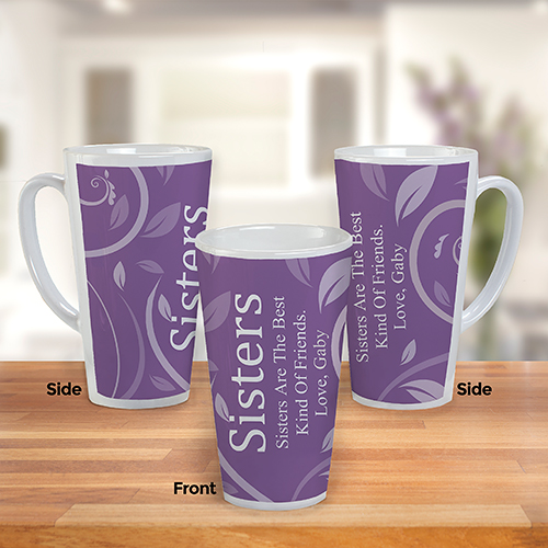 Personalized Latte Mug For Her | Personalized Coffee Mugs