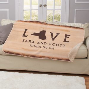Personalized Love Established Throw | Personalized Blankets for Valentines