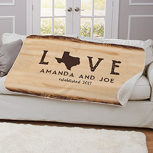 Personalized Love Established Throw U11100287