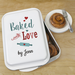 Personalized Baked With Love Cake Pan U110339