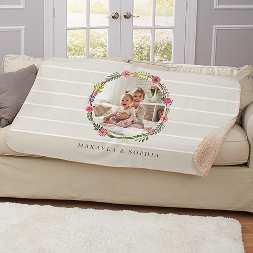 Floral Photo Sherpa Throw | Mother's Day Gifts