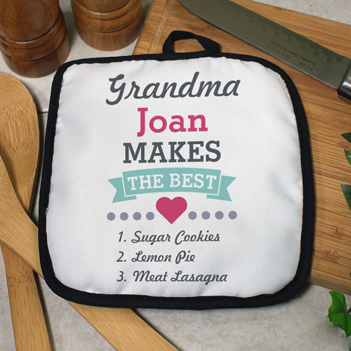 Personalized Grandma Makes the Best Pot Holder | Mother's Day Gifts