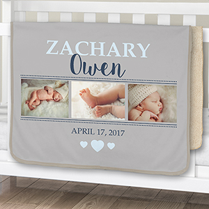 Baby Photo Sherpa Blanket | Personalized Baby Blanket