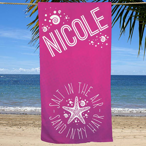 Personalized Summer Quotes Beach Towel | Personalized Beach Towels