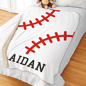Personalized Sports Sherpa Blanket | Kids Blanket