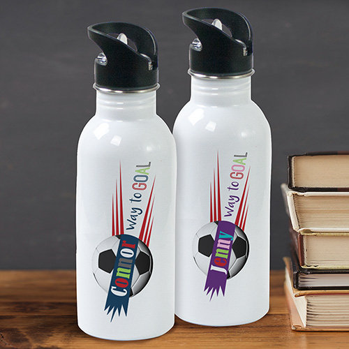 Personalized Soccer Water Bottle | Personalized Water Bottles For Kids