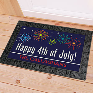 Personalized Happy 4th of July Doormat | Personalized Door Mats