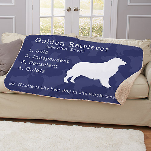 Personalized Dogs Definition Sherpa Blanket | Personalized Throw Blanket