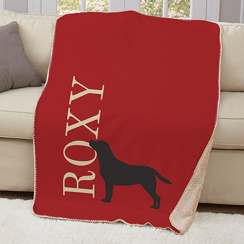 Personalized Dog Breeds Sherpa Blanket | Personalized Pet Throw Blanket