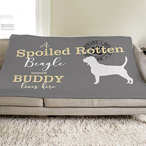 Personalized Spoiled Rotten Dog Throw | Personalized Dog Blankets