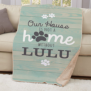 Personalized Our House Sherpa Blanket | Personalized Dog Blankets