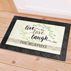 Personalized Live Love Laugh Doormat | Personalized Doormats