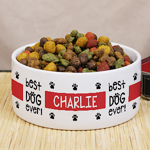 Personalized Best Dog Ever Pet Food Bowl | Personalized Pet Bowls