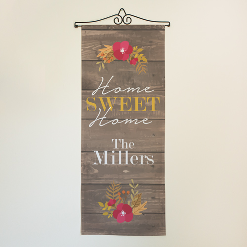 Personalized Fall Home Sweet Home Wall Flag | Personalized Wall Decor