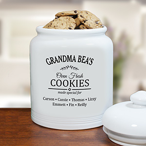 Personalized Oven Fresh Treat Jar | Personalized Cookie Jars