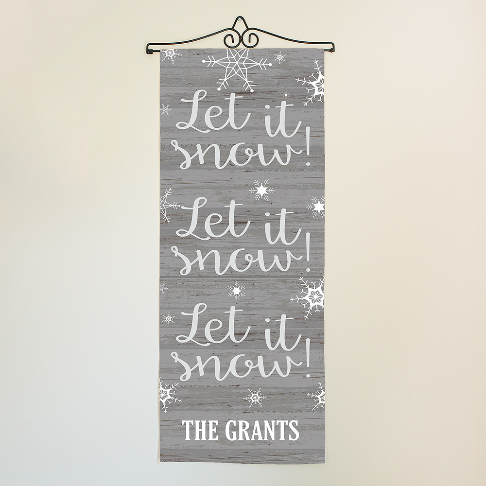 Personalized Let It Snow Wall Hanging | Personalized Christmas Decorations
