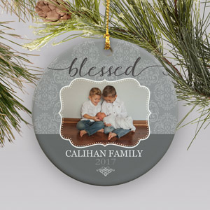 Personalized Blessed Photo Ceramic Ornament | Photo Ornaments