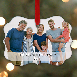 Personalized Holiday Family Photo Benelux Ornament | Personalized Photo Ornaments