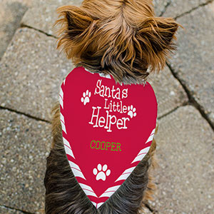Santa's Little Helper Pet Bandana | Personalized Dog Bandanas