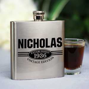 Personalized Vintage Edition Flask | Engraved Gifts For Him