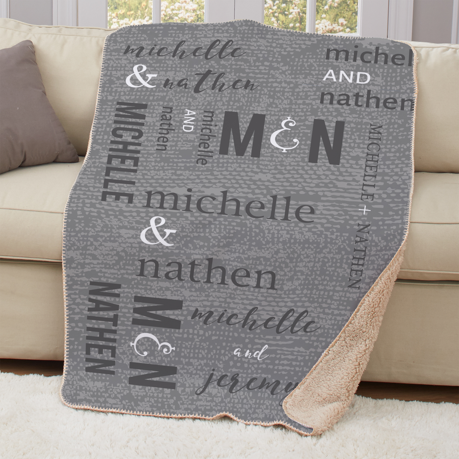 Personalized Couples Wedding Sherpa Blanket | Personalized Wedding Blanket