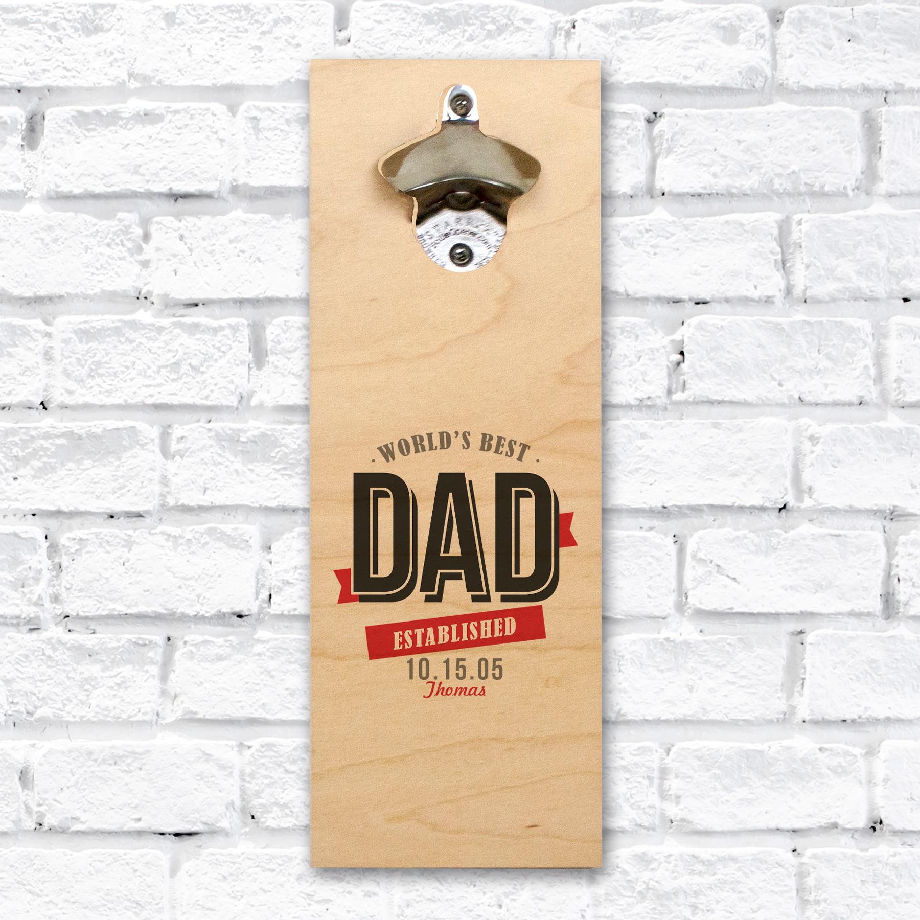 Personalized Worlds Best Wall Bottle Opener | Wall Mounted Bottle Opener