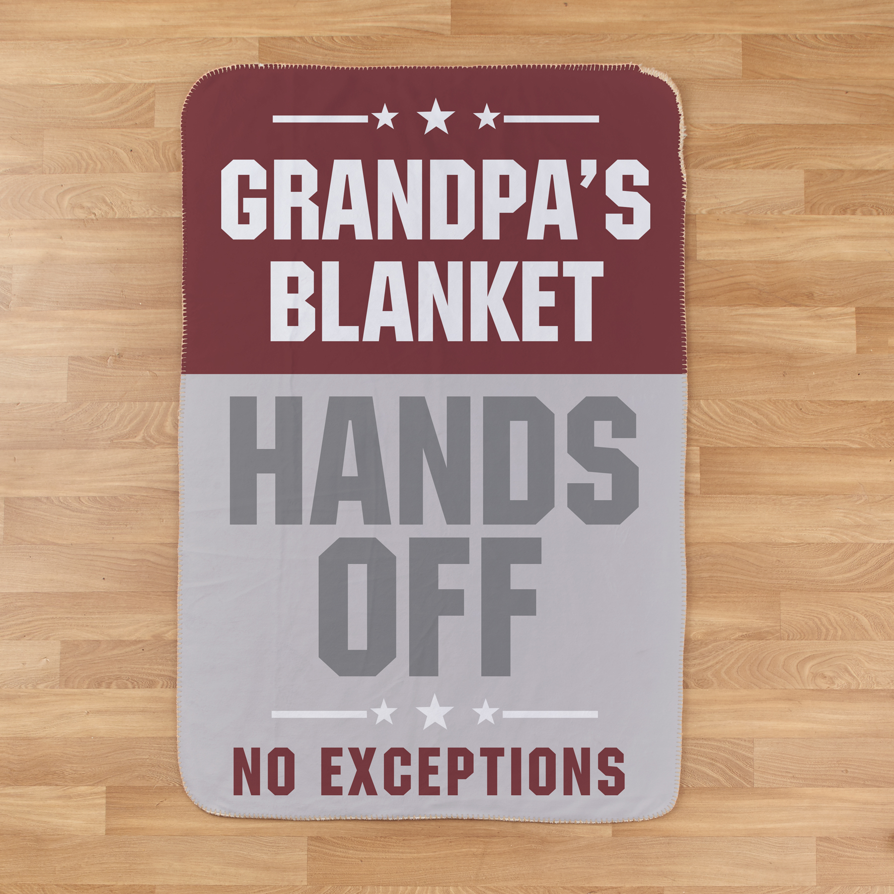 Personalized Hands Off No Exception Sherpa Blanket | Personalized Blankets