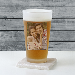 Photo Frosted Pint Glass
