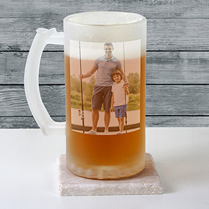 Photo Frosted Glass Stein | Valentine's Day Mugs