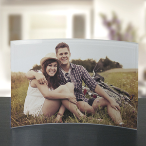 Picture Perfect Curved Glass Photo Keepsake