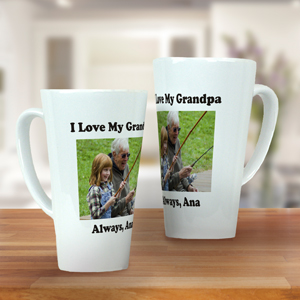 Personalized Photo Latte Mug | Coffee Mugs for Dad