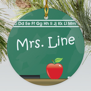 Chalkboard Personalized Ceramic Ornament |