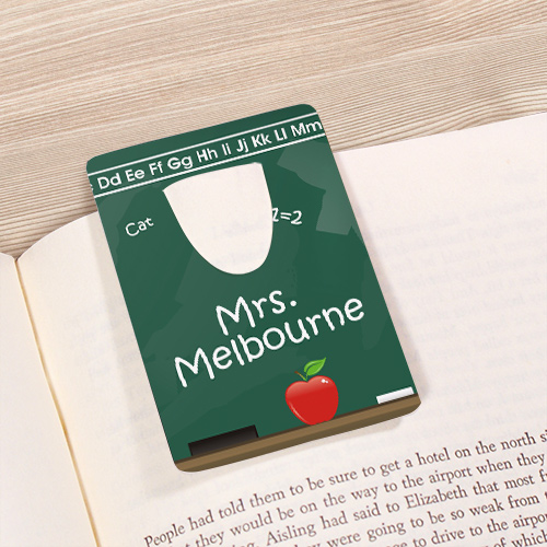 Chalkboard Personalized Teacher Bookmark U22825