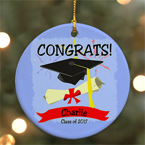 Personalized Ceramic Graduation Ornament | 2018 Graduation Keepsakes