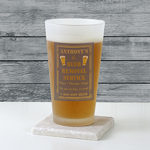 Personalized Beer Removal Frosted Pint Glass U3133105